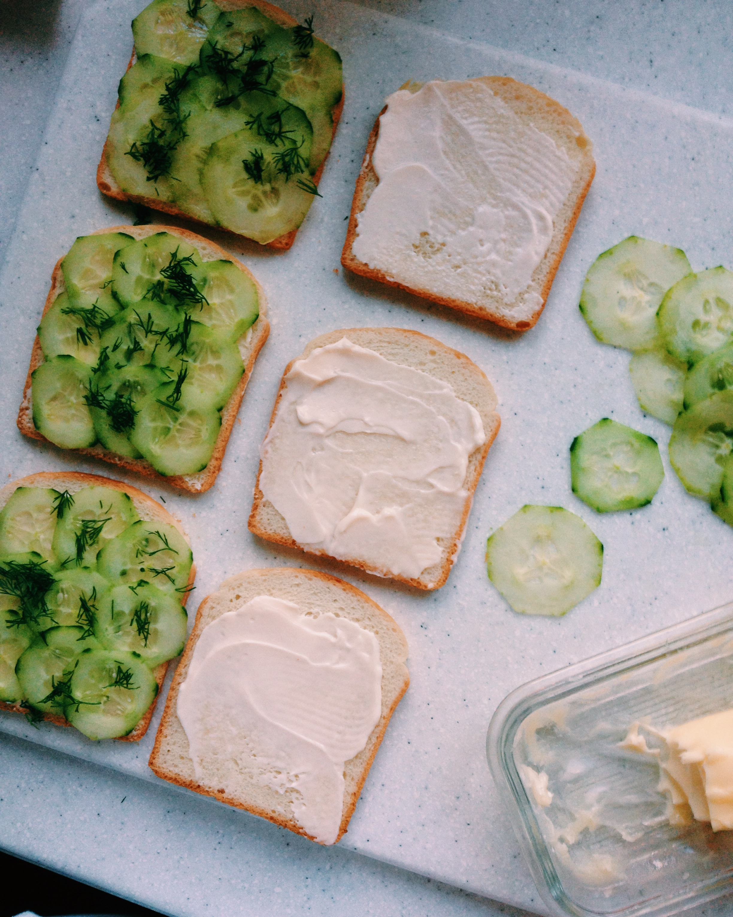 Shrimp, Brie And Cucumber Sandwiches Recipe — Dishmaps