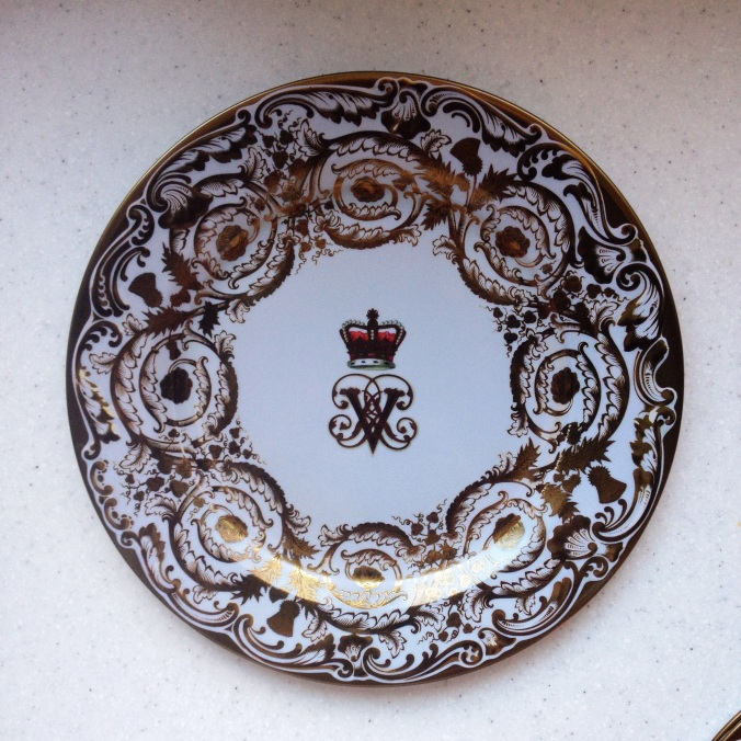 KVS brings me little treats from London all the time because she's wonderful - Victoria and Albert commemorative plate.