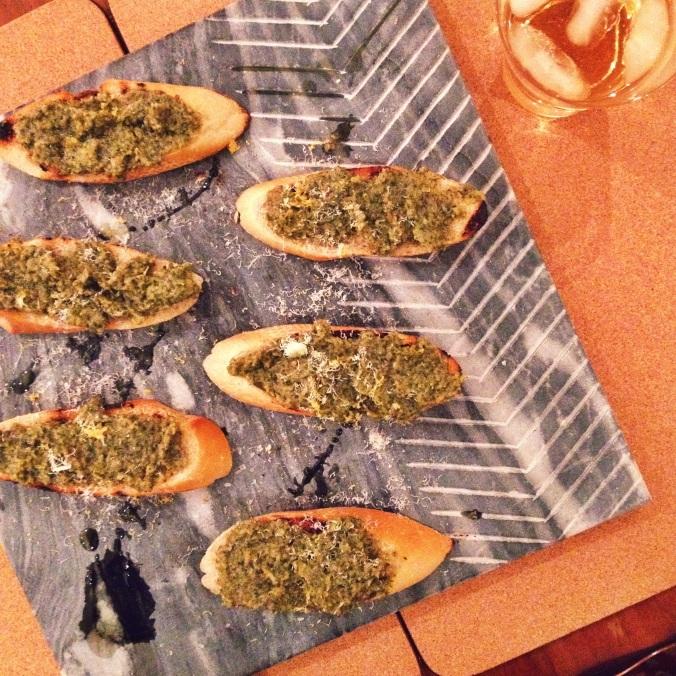 Sage, Prosciutto, & Walnut Pesto | apinchofthis.nyc