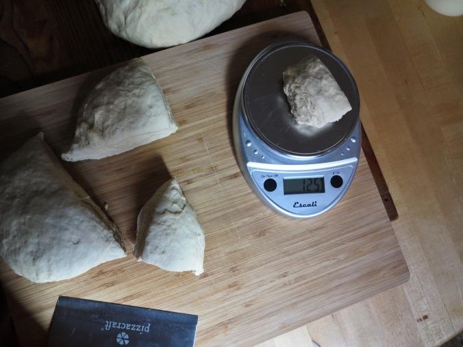dough portions