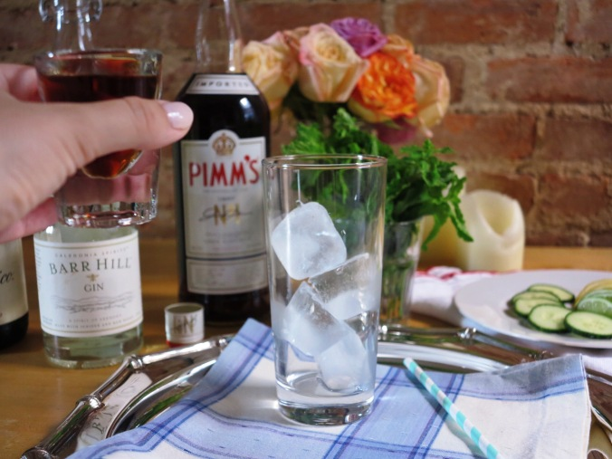 to begin, use Pimm's.