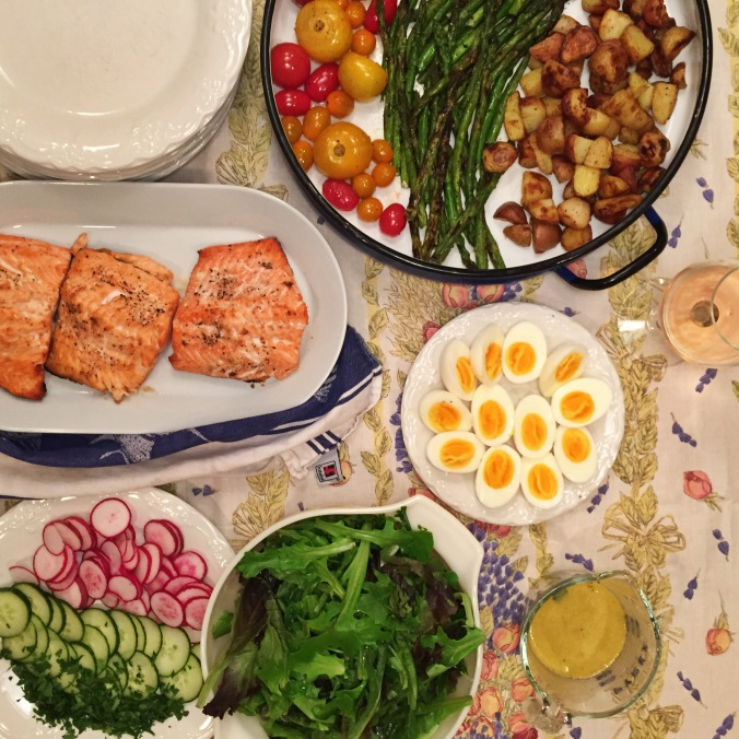 Grilled Salmon Salade Niçoise | apinchofthis.nyc