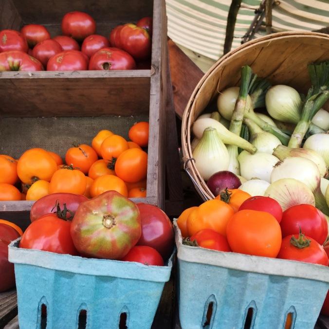 buckets of produce