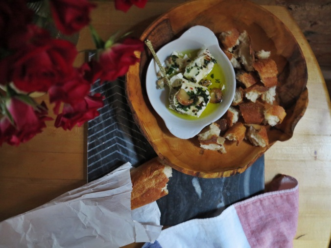 Marinated Goat Cheese | apinchofthis.nyc