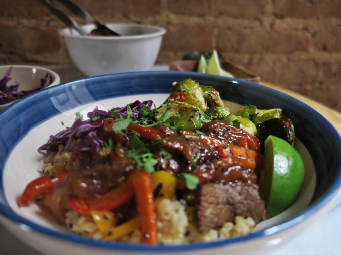 Beef & Brussels Bowl | apinchofthis.nyc