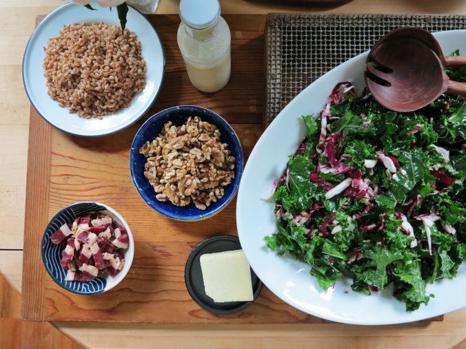 Kale, Farro & Prosciutto Salad | apinchofthis.nyc