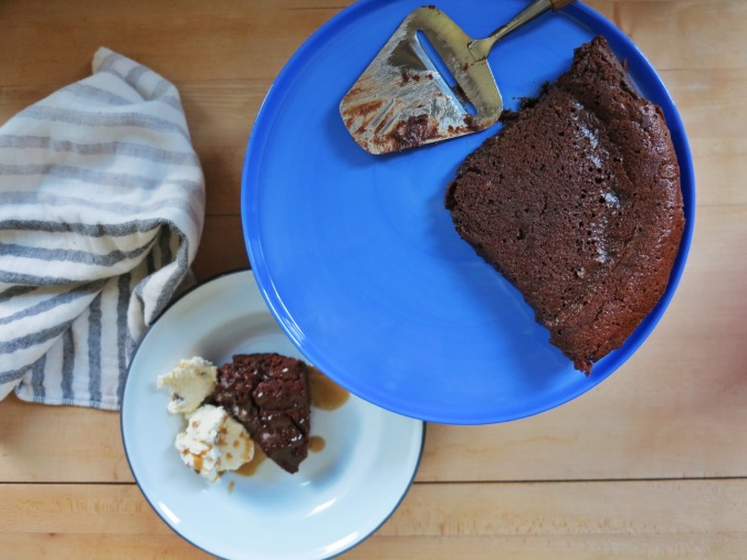 Almost Flourless Chocolate Cake | apinchofthis.nyc