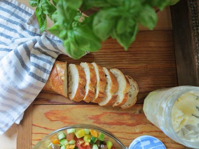 Tomato, Cucumber & Ricotta Crostini | apinchofthis.nyc