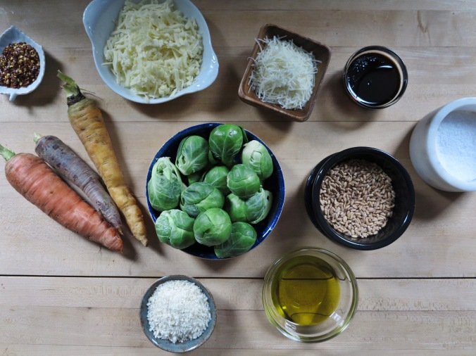 Brussels Sprout and Farro Gratin   apinchofthis.nyc