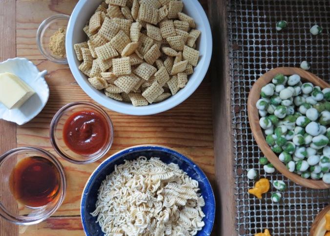 Cheddar Wasabi Snack Mix | apinchofthis.nyc